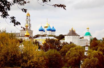 Autumn in Trinity Sergius Lavra. UNESCO Heritage SIte.