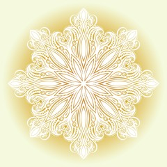 Beautiful Decorative Snowflake (Vector), Patterned design