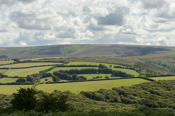 Exmoor countryside near Malmsmead