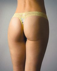 Sexy woman's bottom in lingerie
