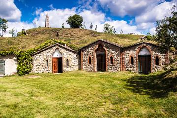 Wine cellars in village Kobyli