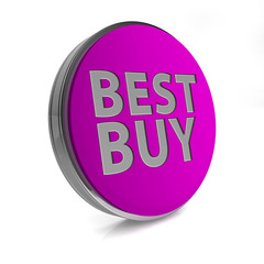 Best buy circular icon on white background