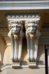 Heads of  lions