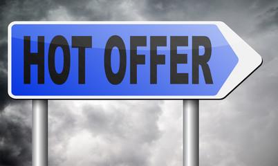 hot offer sign