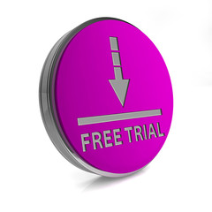 Free trial circular icon on white background