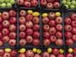Granatapfel und Zitrone an einem Straßenstand in Istanbul