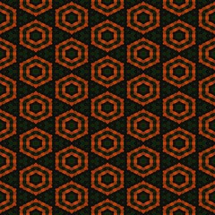 Abstract tileable regular ornamental mosaic