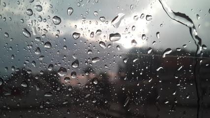 Lluvia y neblina desde mi ventana