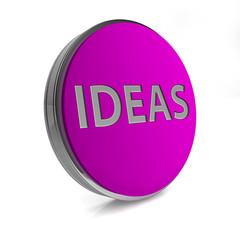 Ideas  circular icon on white background