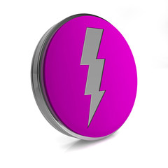 Bolt circular icon on white background