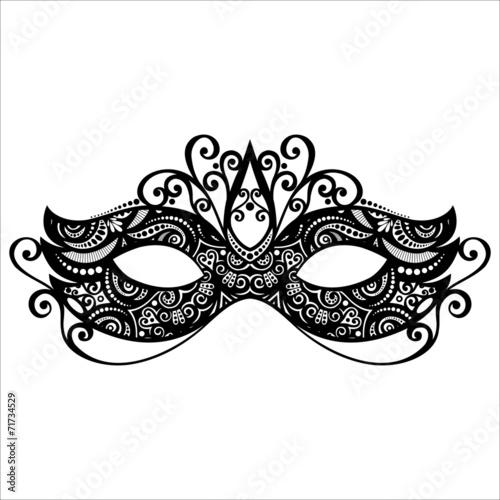 Beautiful Masquerade Mask (Vector), Patterned design - 71734529
