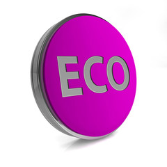 eco circular icon on white background