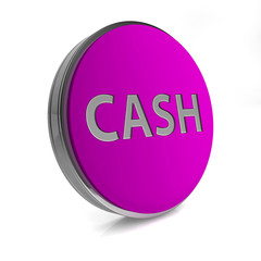 Cash circular icon on white background
