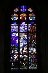 Vitrail de sainte Jeanne d'Arc, cathédrale d'Auxerre