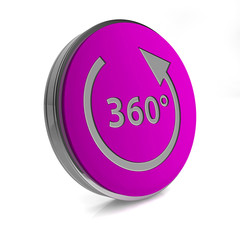 360 degrees circular icon on white background