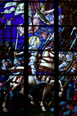 Jeanne d'Arc : vitrail de la cathédrale d'Auxerre