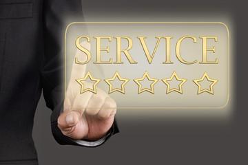 goldener Button Service