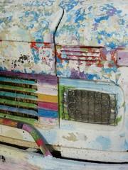 Buntes Hippie Wohnmobil am Mittelmeer in Alacati bei Izmir