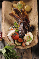 Roasted Lamb Chops with Vegetables