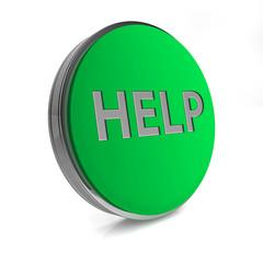 help circular icon on white background