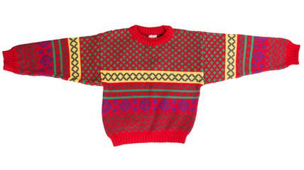 Children's red sweater