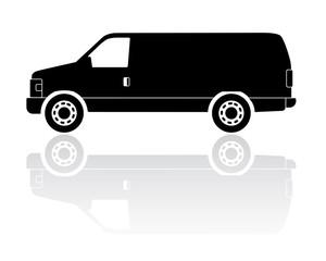 Midsize truck silhouette vector icon