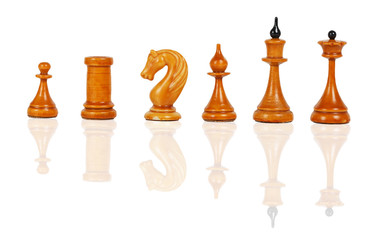 White chess figures