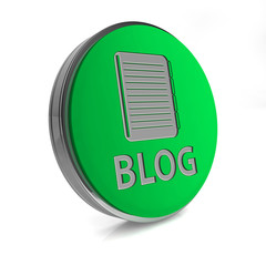 Blog circular icon on white background
