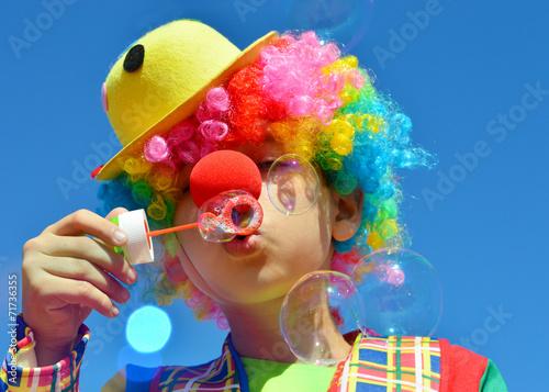 Leinwanddruck Bild Clown