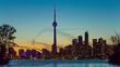 Toronto Downtown skyline view from  Island Park , Canada