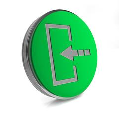 Login circular icon on white background