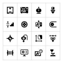 Set icons of 3D printing