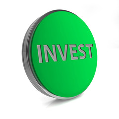 Invest circular icon on white background