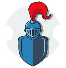 illustration of knight armor