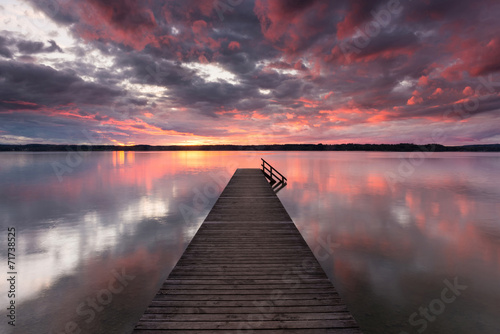 canvas print picture Abends am Starnberger See