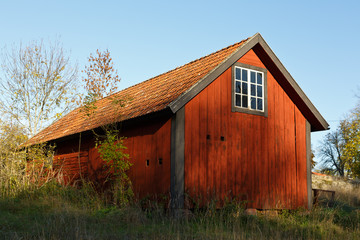 Typical Swedish red house