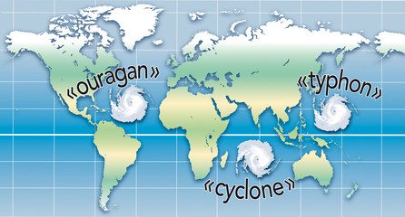 Cyclones - Noms locaux