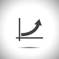 graph with arrow vector icon