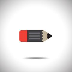 pencil vector icon with eraser