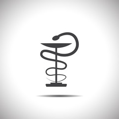 pharmacy snake symbol vector icon