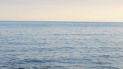 Sky and water at sea with horizon
