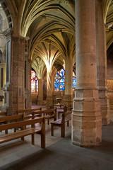 Paris - interior of Saint Severin gothic church