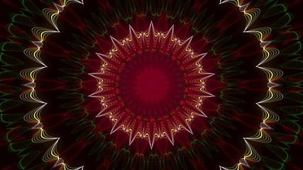 kaleidoscop, abstract loop motion background, circle