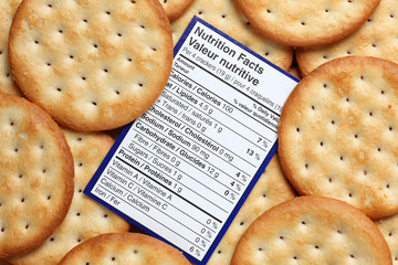 Crackers nutrition facts