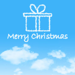 Christmas Cloud on blue sky