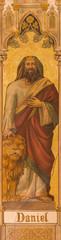 Trnava - The neo-gothic fresco of prophet Daniel