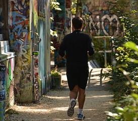 jogging...sentier étroit