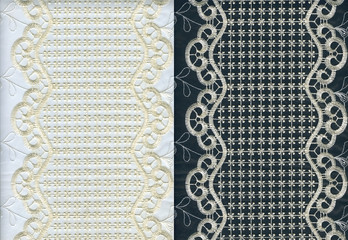 Set of golden lacy textures