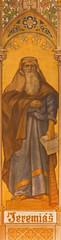 Trnava -  The neo-gothic fresco of prophet Jeremiah
