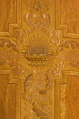 Bratislava - needelwork of lamb on the book - symbol of Jesus